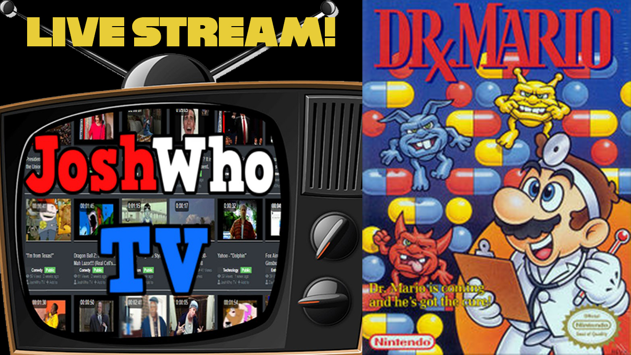 Testing JoshWhoTV Live Streaming by playing Dr. Mario on Nestopia