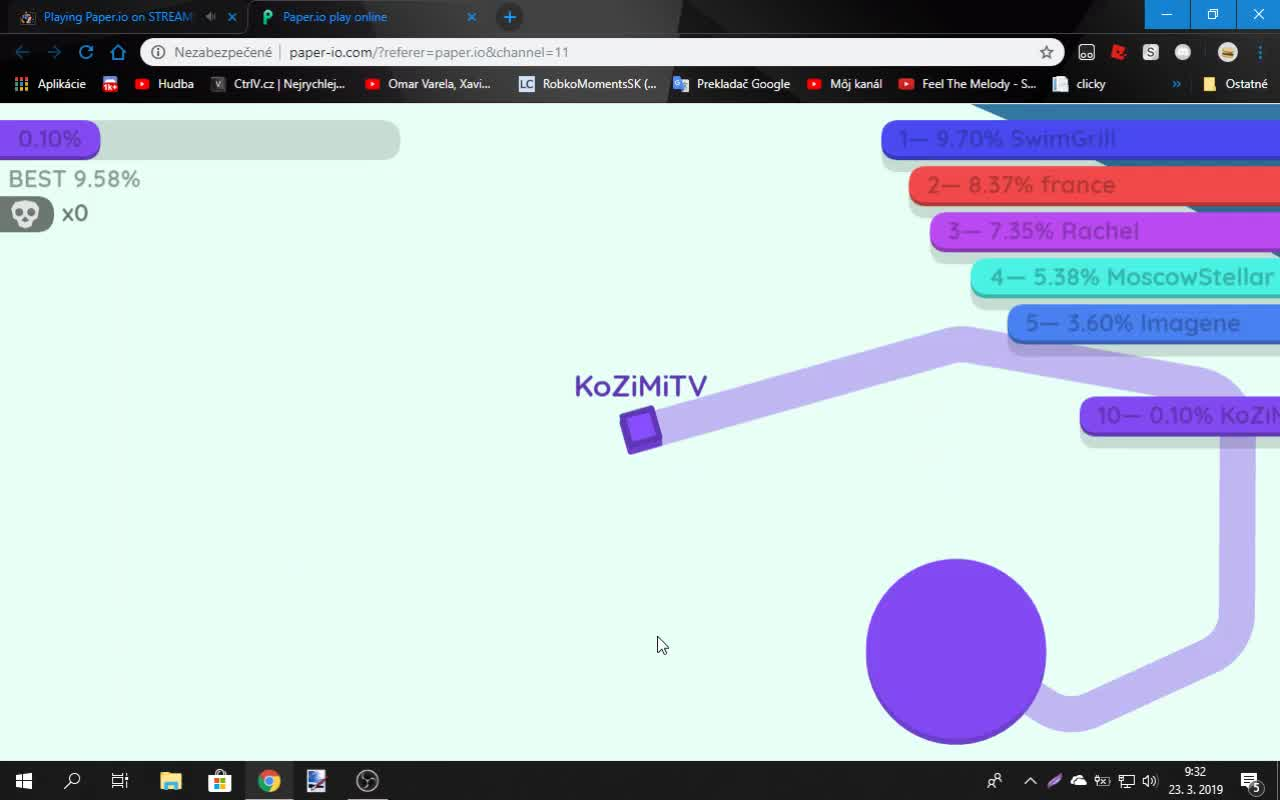 Playing Paper.io on STREAM! on 23-Mar-19-08:32:33
