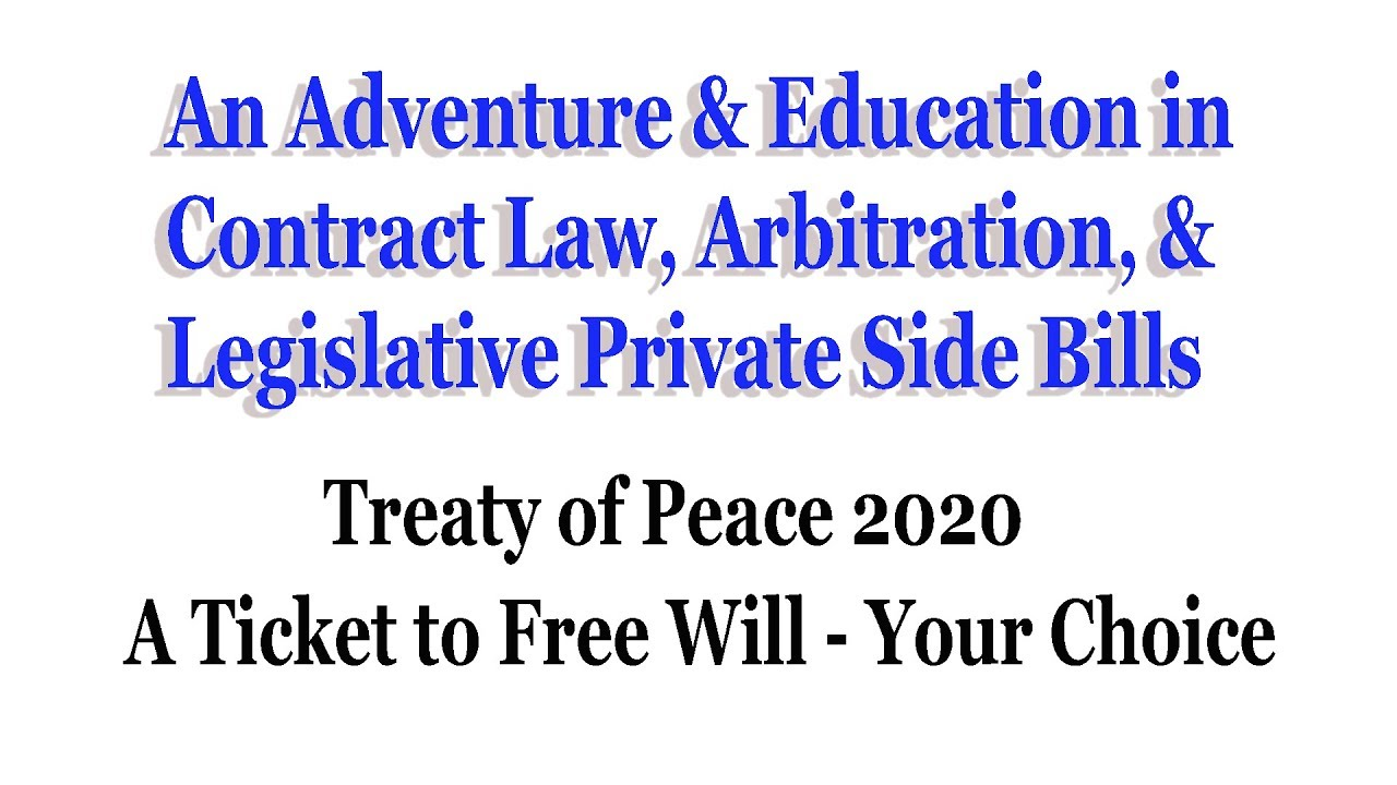Treaty Of Peace 2020 - The Facts - Update 10/13/19